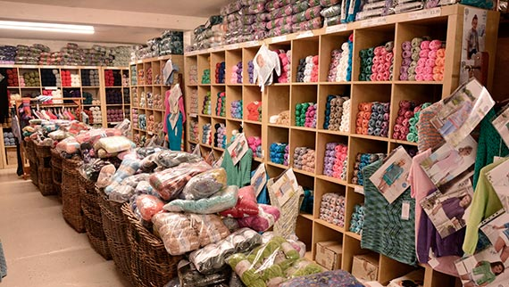 Wool Shop near Bradford